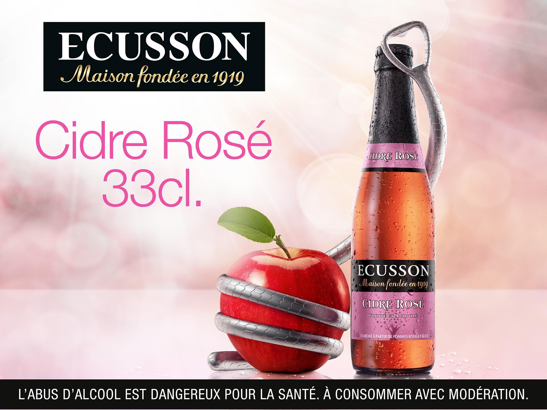 Ecusson cidre rose - Timothée Vigouroux